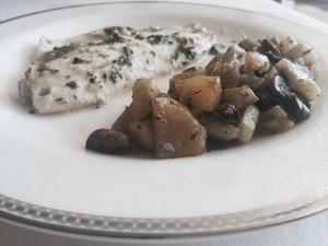 filet merou ail et coriandre et legumes